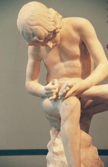 Statue romaine sur l'île des musées
