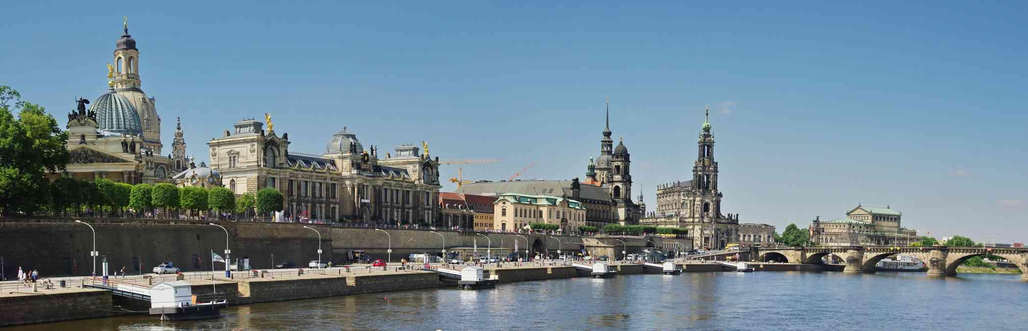 Vue des quais de Dresde