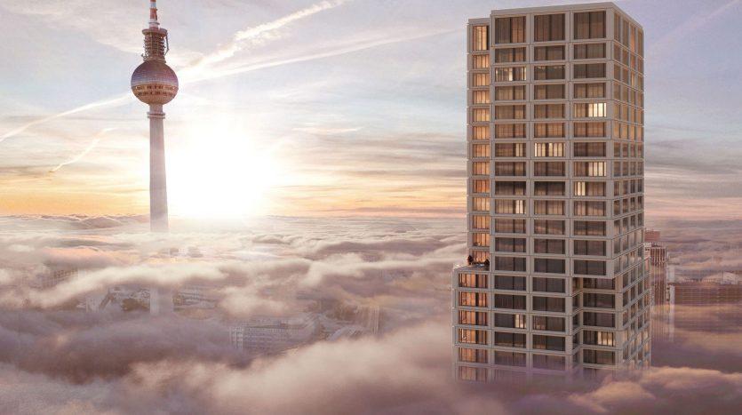 Plus haute tour d'habitation de Berlin à Alexander Platz