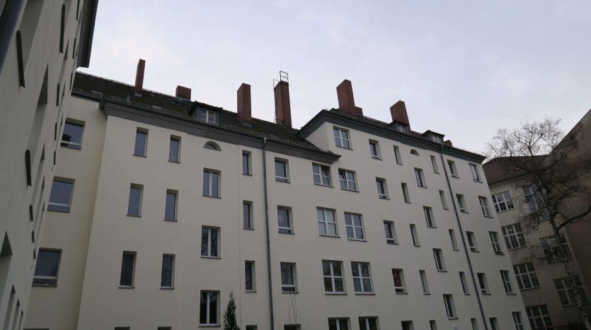 Facade de la cour intérieure de l'immeuble