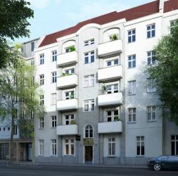 3 pièces avec balcon au 2ième étage d'un immeuble en rénovation à Neukölln